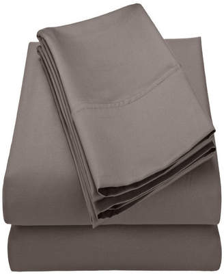 Home City Inc Superior 600 Thread Count Cotton Rich Solid Sheet Set - Split King - White Bedding