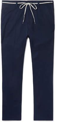 Lanvin Navy Slim-Fit Cotton Trousers
