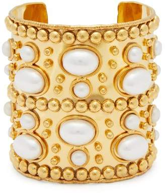 Sylvia Toledano - Wonder Byzance Brass And Pearl Cuff - Womens - Pearl