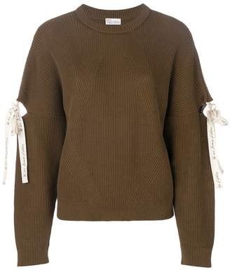 RED Valentino lace-up detail jumper