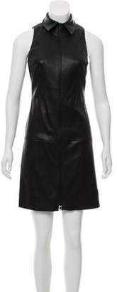 Jitrois Leather Zip-Up Dress