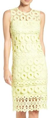 Women's Taylor Dresses Lace Sheath Dress $128 thestylecure.com