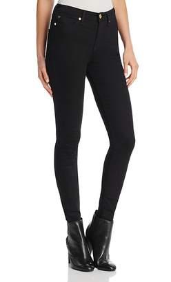 True Religion Halle High-Rise Skinny Jeans in Body Rinse Black