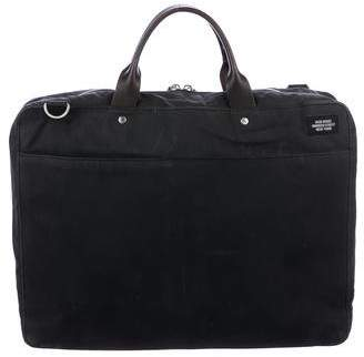 Jack Spade Leather-Trimmed Woven Briefcase