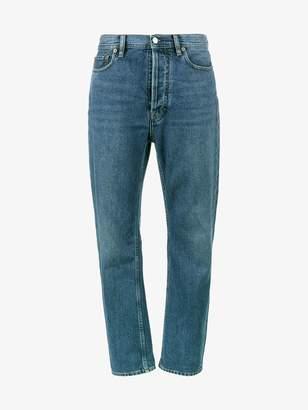 Acne Studios Log Mid Blue High Waisted Mom jeans