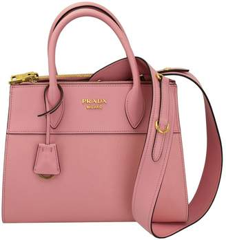 Prada Leather Tote Bag With Shoulder Strap 1ba103