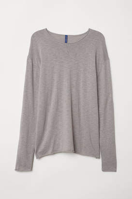 H&M Slub-knit Sweater - Gray