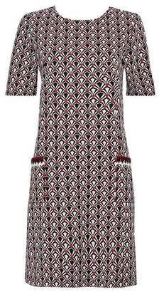 Wallis Grey Jacquard Pocket Shift Dress