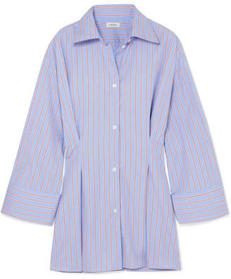 Totême Striped Cotton-poplin Shirt - Blue