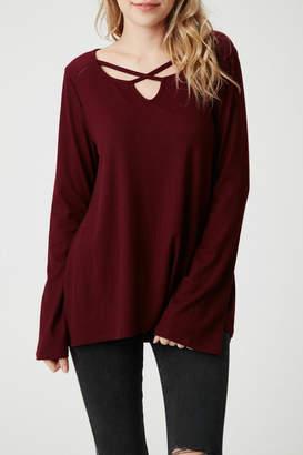 Olive + Oak Bell Sleeve Sweater