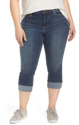 Max Studio MAXSTUDIO Indigo High Waist Crop Skinny Jeans