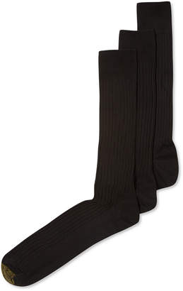 Gold Toe Adc Canterbury 3 Pack Crew Extended Size Dress Men's Socks