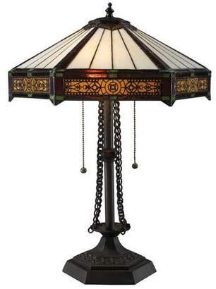 Dimond Lighting D1852 Filigree Craftsman / Mission Two-Light Table Lamp in Tiffa