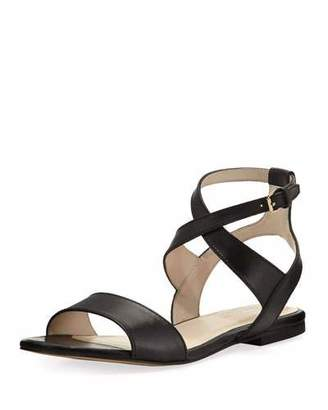 Cole Haan Fenley Grand Ankle-Wrap Flat Sandal, Black $150 thestylecure.com