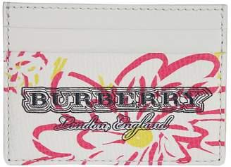 Burberry Floral Print Card Case