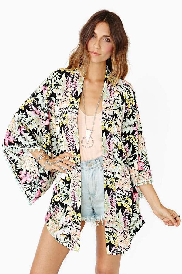 Nasty Gal Reverse Tropicale Kimono
