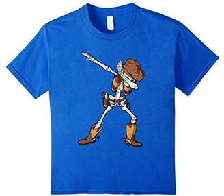 Dabbing Cowboy Funny Skeleton T Shirt