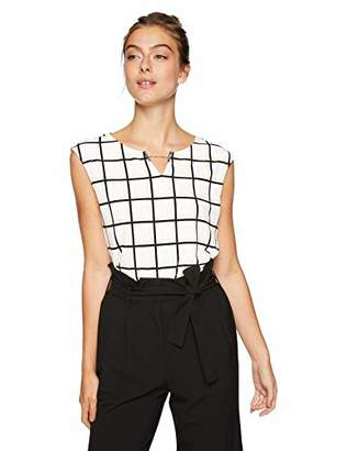 Calvin Klein Women's Printed Sleeveless TOP with Chain Detail