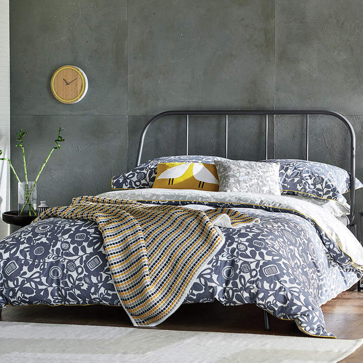 Scion - Kukkia Duvet Cover - Ink & Charcoal - Double