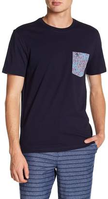 Original Penguin Short Sleeve Floral Print Pocket Tee
