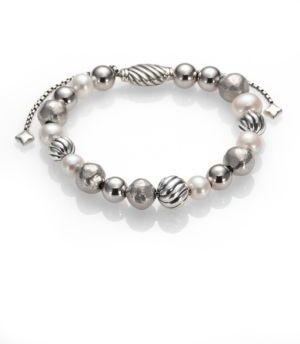 David Yurman DY Elements Bracelet with Pearls $495 thestylecure.com