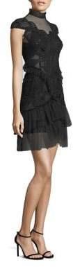Jonathan Simkhai Lace Tiered Ruffle Dress