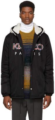Kenzo Black Hooded Logo Jacket