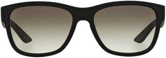 Prada Linea Rossa Ps 03qs 57 Black Rectangle Sunglasses