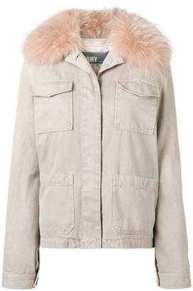 Yves Salomon Army fur trimmed field jacket