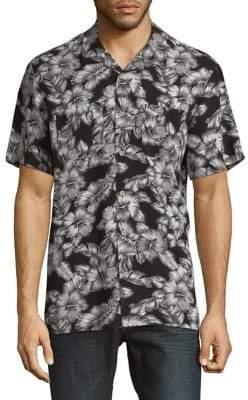 Black & Brown Black Brown Floral Short-Sleeve Shirt