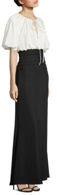 Tadashi Shoji Colorblock A-Line Gown $410 thestylecure.com