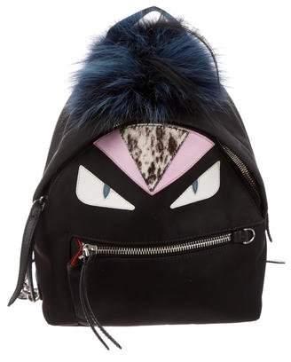 2b00b59116a6 Fendi Fur-Trimmed Mini Monster Backpack