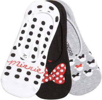 Disney Women's 3-Pk. Minnie Mouse Polka-Dot Liner Socks