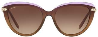 Bvlgari Two-Tone Cat Eye Sunglasses