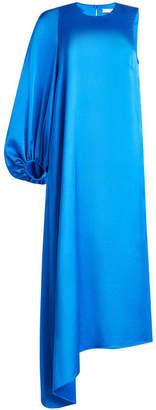 Tibi Satin Dress with One Sleeve