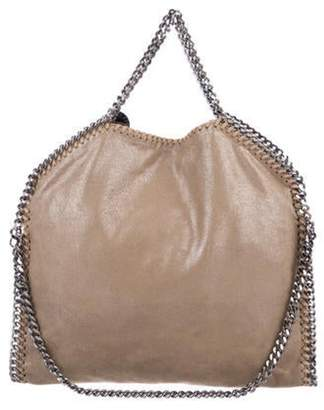 Stella McCartney Small Shaggy Deer Falabella Fold-Over Tote Beige Small Shaggy Deer Falabella Fold-Over Tote
