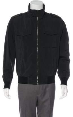 Prada Woven Bomber Jacket black Woven Bomber Jacket