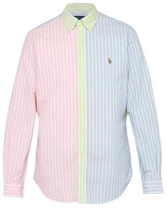 Polo Ralph Lauren Striped Contrast Panel Cotton Oxford Shirt - Mens - Multi