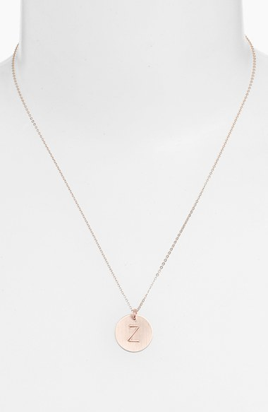 Women's Nashelle 14K-Gold Fill Initial Disc Necklace 4