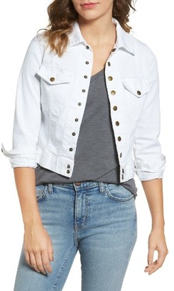 Women's Current/elliott 'The Snap' Stretch Denim Jacket $228 thestylecure.com