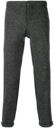 Thom Browne Bicolor Unconstructed Skinny Wool Trouser