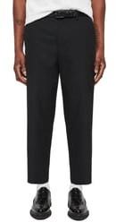 AllSaints Miro Relaxed Fit Wool & Cotton Dress Pants