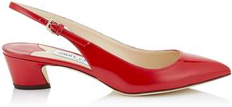 Jimmy Choo GEMMA 40 Red Patent Leather Slingback Pump