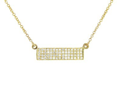 Jennifer Meyer Diamond Rectangle Necklace - Yellow Gold