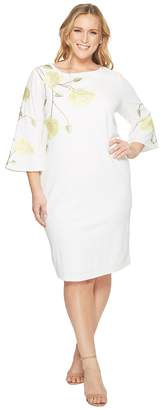 Tahari ASL Plus Size Embroidered Floral Sheath Dress Women's Dress