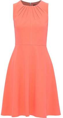 Donna Karan Fluted Pleated Stretch-crepe Dress