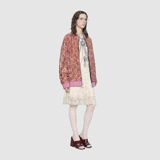 Gucci GG sequins bomber jacket