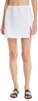 Gottex Essence Textured Swim Coverup Mini Skirt