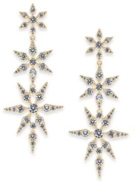 Eliot Danori Gold-Tone Cubic Zirconia Triple Star Drop Earrings, Created for Macy's