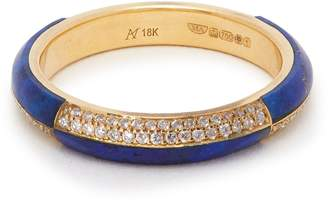 Marc Alary 18kt gold, diamond and lapis lazuli ring